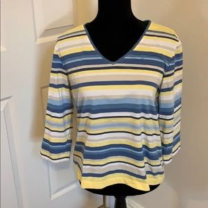 Woman's Crazy Horse Striped Top Size 10